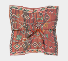 Load image into Gallery viewer, Red vintage berber scarf bohemian Moroccan inspiration