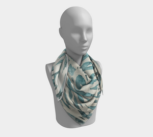 Blue and white Moroccan scarf inspiration