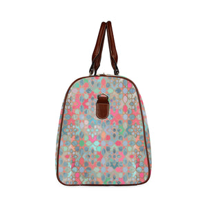 Multicoloured Mosaic travel bag Waterproof Travel Bag/Small (Model 1639)