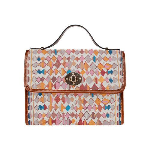 Berber multicolor Pattern inspiration handbag Waterproof Canvas Bag/All Over Print (Model 1641)