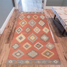 Load image into Gallery viewer, Moroccan rug Red geometric pattern
