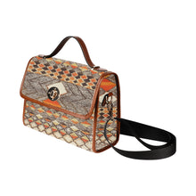 Load image into Gallery viewer, Brown berber pattern Moroccan inpiration handbag Waterproof Canvas Bag/All Over Print (Model 1641)