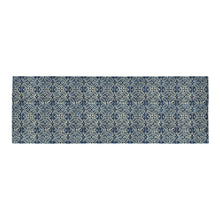 Load image into Gallery viewer, Blue Ethnic Moroccan pattern 10x3'3 Area Rug