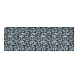 Blue Ethnic Moroccan pattern 10x3'3 Area Rug