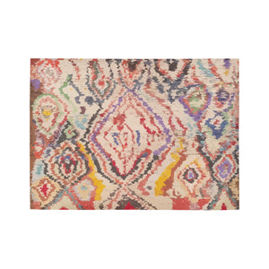 Multicolor shapes Moroccan and berber rug inspiration Area Rug7'x5'