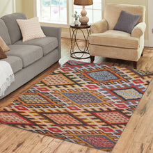 Load image into Gallery viewer, Boho rug  with losange geometric patterns Area Rug7'x5'