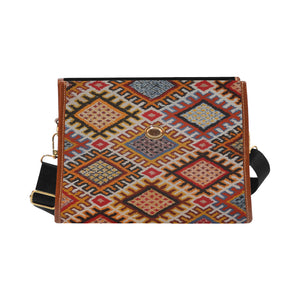 Moroccan and Berber pattern inspiration handbag Waterproof Canvas Bag/All Over Print (Model 1641)