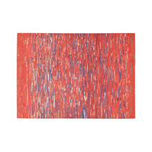 Load image into Gallery viewer, Red Moroccan Berber rug with blue and white lines Area Rug7'x5'