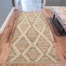 Load image into Gallery viewer, Berber beige and brown Moroccan Area rug