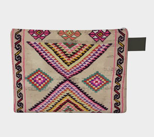 Berber bohemian style zipper carry all vintage