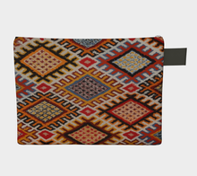 Load image into Gallery viewer, Bohemian zipper carry-all vintage with berber pattern