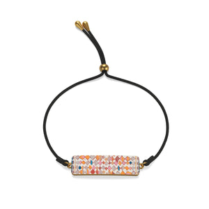 Cord Bracelet with multicoloured Moroccan and berber inspired patterns