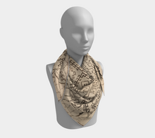 Load image into Gallery viewer, Berber pattern bohemian scarf moroccan inspiration and vintage