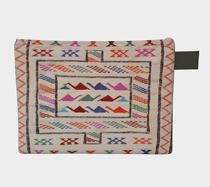 Moroccan style zipper carry-all purse bohemian and vintage style