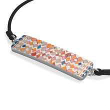 Load image into Gallery viewer, Cord Bracelet with multicoloured Moroccan and berber inspired patterns