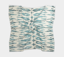 Load image into Gallery viewer, Blue and white bohemian scarf Moroccan vintage inspired