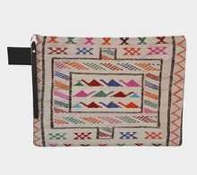 Load image into Gallery viewer, Moroccan style zipper carry-all purse bohemian and vintage style