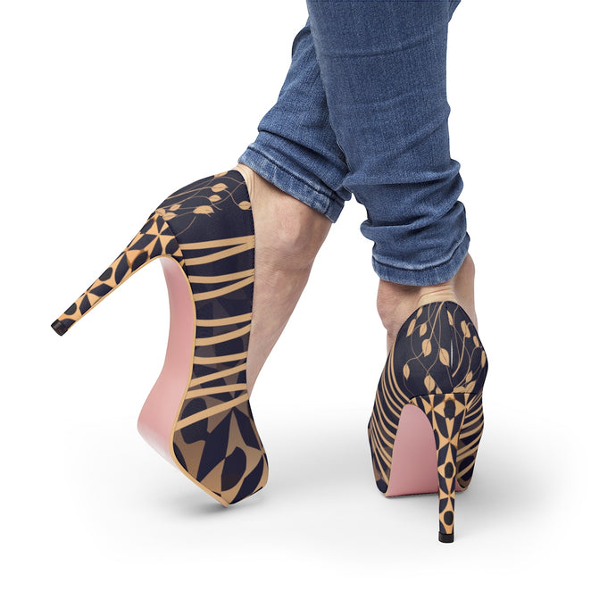 Platform Heels Arabesque patterns ref 02