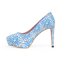 Load image into Gallery viewer, Platform Heels Boho blue