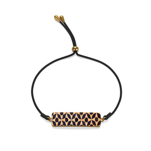 Cord Bracelet with blue Moroccan patterns