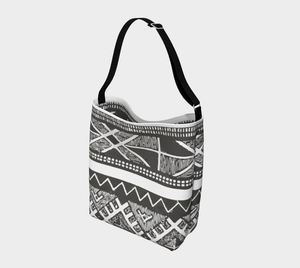 Black and grey moroccan vintage bag