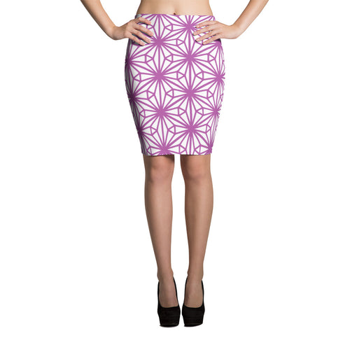 Pink Pencil Skirt moorocan style ethnic pattern