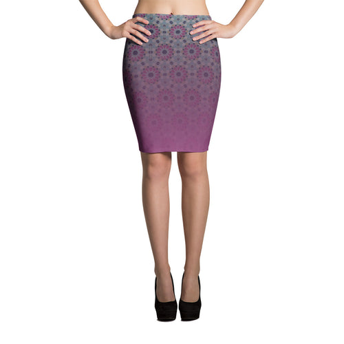 Pink Pencil Skirt moroccan ethnic style pattern