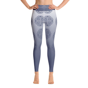 Yoga Leggings - Boho grey mandala
