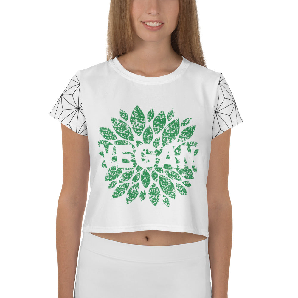 vegan Crop Tee with pattern