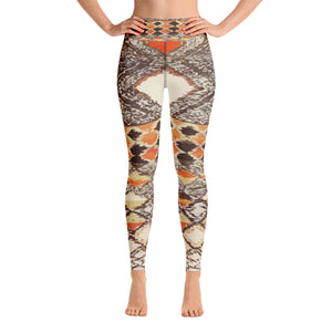 Yoga Leggings - Vintage artsy patterns