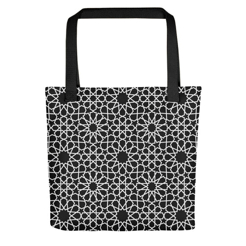 Black and white Moroccan totebag inspiration