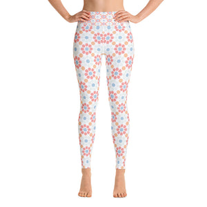 Yoga Leggings - Boho pink arabesque pattern