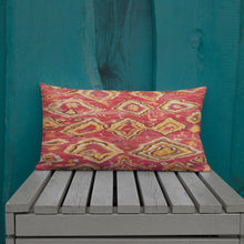 Load image into Gallery viewer, Morocco Pillow red and yellow berber inspiration pattern vintage and bohemian