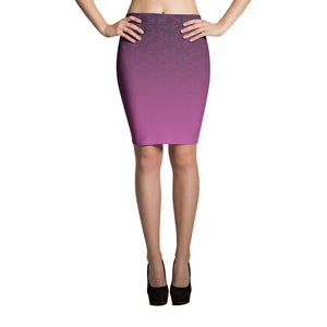 pink Pencil Skirt wirh moroccan pattern