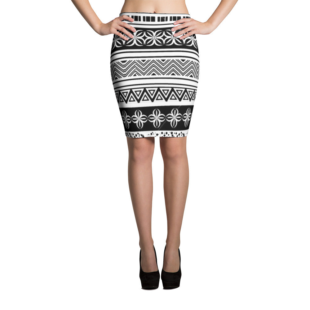 ethnic pencil skirt