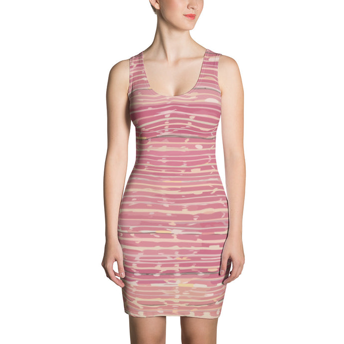 ethnic pink dress with pattern and lines