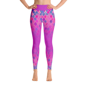 Yoga Leggings - Gradient artsy mermaid patterns