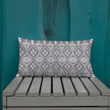 Load image into Gallery viewer, Premium berber Moroccan Pillow style grey and white