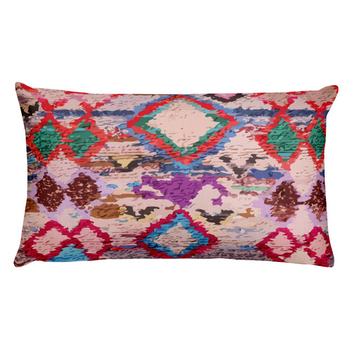 Moroccan pillow purple berber pattern inspiration bohemian and vintage
