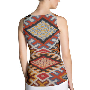 Sublimation Cut & Sew bohemian Tank Top vintage pattern
