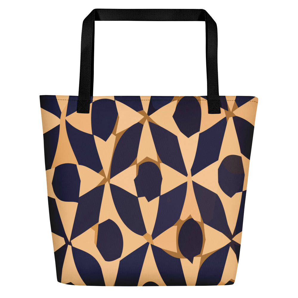 Moroccan Bag blue and white pattern style - beach bag