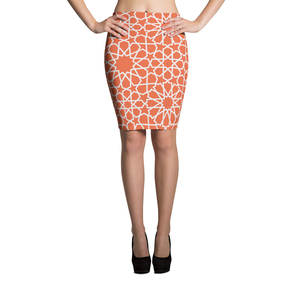 Origina Pencil Skirt with moroccan patterns