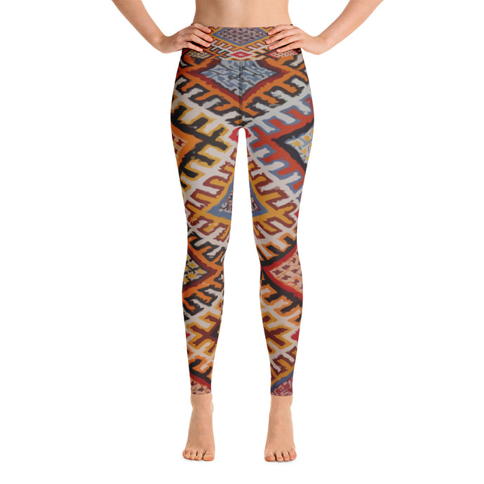 Yoga Leggings - vintage boho patterns