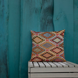Moroccan Pillow style with berber pattern inspiration bohemian and vintage