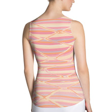Load image into Gallery viewer, Sublimation Cut & Sew pink colorful Tank Top bohemian pattern