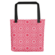 Load image into Gallery viewer, Pink Tote bag with Moroccan style pattern