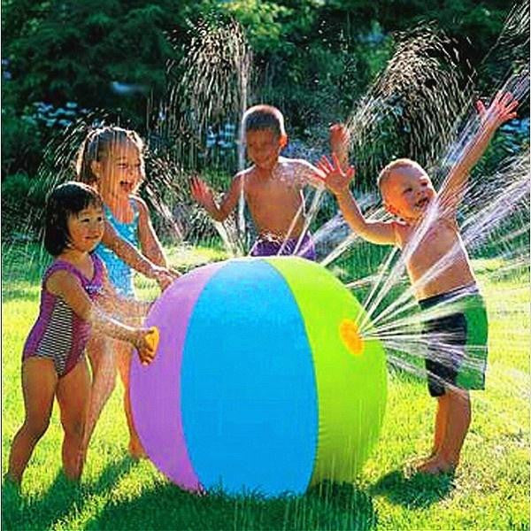 Outdoor Summer Pool Beach Ball Inflatable Splash Play Party Water Game Children Kids Sprinkler Toy - adventuresinoutdoorfun.com, Outdoor Toys,
