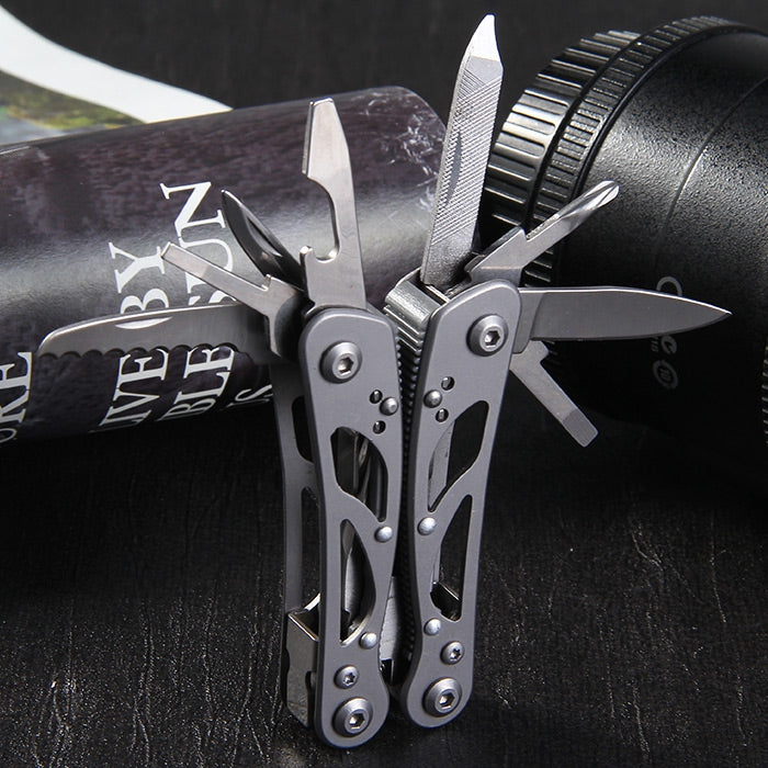 GANZO G104 - S Mini Pliers 9 in 1 Multifunctional Outdoor Camping Toolkit with Nylon Sheath - adventuresinoutdoorfun.com, Camping,