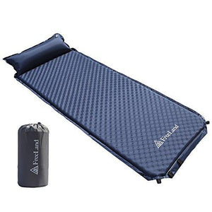 Freeland Camping Sleeping Pad Self Inflating with Attached Pillow, Compact, Lightweight, Large, Dark Navy Blue Color : Gateway - adventuresinoutdoorfun.com, Camping,