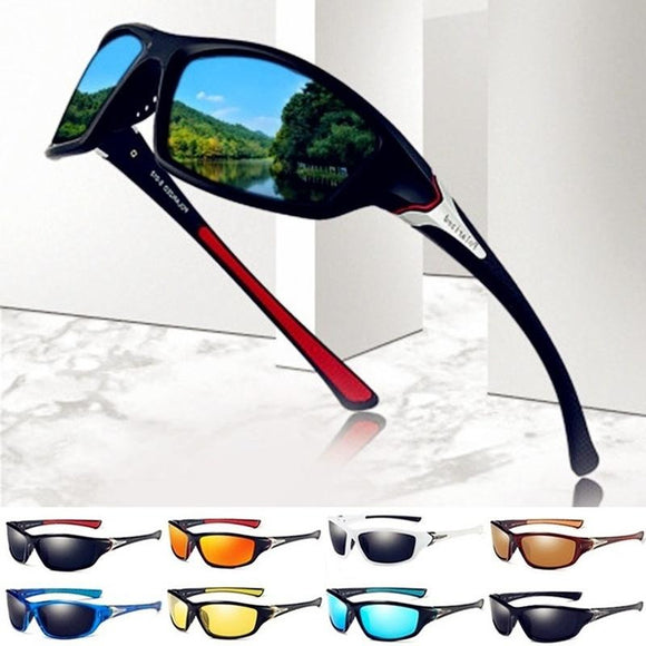 Fashion HD Polarized UV400 Sunglasses Men Polarized Riding Cycling Fishing Sunglasses Outdoor Sports Driving Sunglasses Polarize - adventures-is-shopping